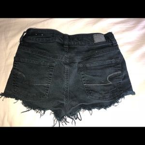 American Eagle Outfitters Shorts - American Eagle black distressed denim shorts